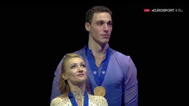 Savchenko/Massot: Freudentränen bei der Siegerehrung