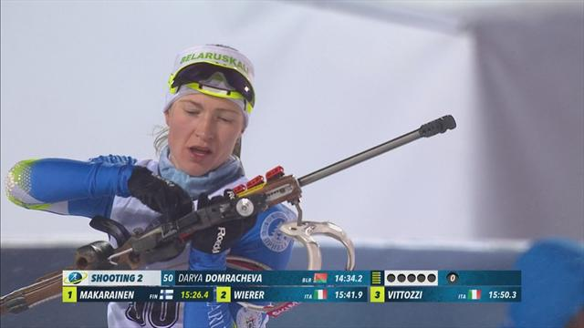 Domracheva takes sprint title in Tyumen
