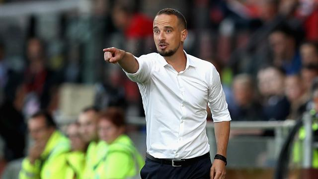 Mark Sampson banned after intimidating female Uefa official with metal pole
