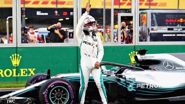 Hamilton frantuma record: pole davanti a Raikkonen e Vettel, pauroso incidente per Bottas