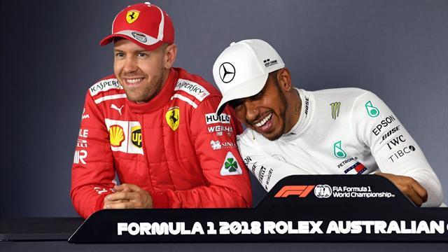 """Hamilton-Vettel, prime scintille: """"Aspettavo il giro buono per toglierti il sorriso dalla faccia"""""""
