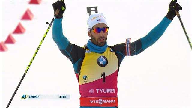 Martin Fourcade crushes rivals in Tyumen