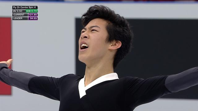 Sublime Chen wins free skate gold
