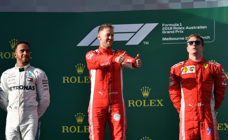 Lewis Hamilton (Mercedes) et Sebastian Vettel (Ferrari) au Grand Prix d'Australie 2018