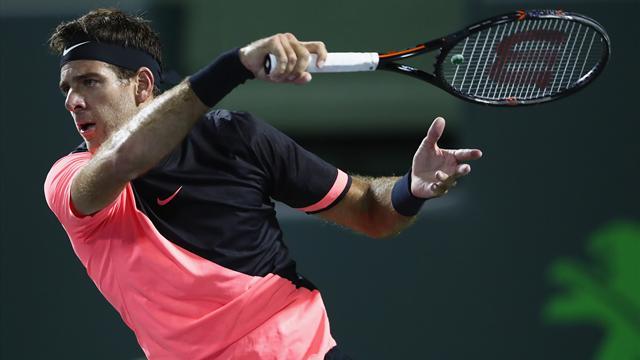 ATP Miami: Juan Martin Del Potro qualifié pour les quarts de finale