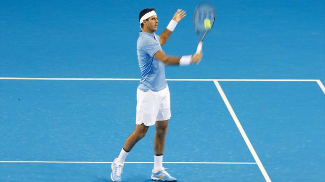 Del Potro Downs Raonic For 15th Straight Win