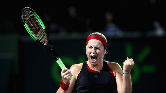 Ostapenko downs Collins to reach Miami final