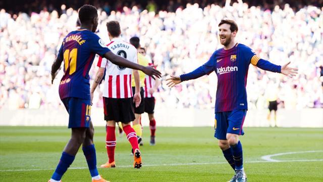 Il Barcellona impatta a Siviglia 2-2, Roma guarda come si fa