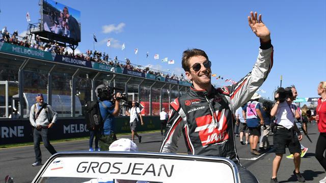 Grosjean fastest on first morning of test