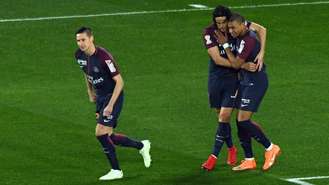 Cavani y Di Maria le dan el título de la Copa de la Liga al PSG (3-0)