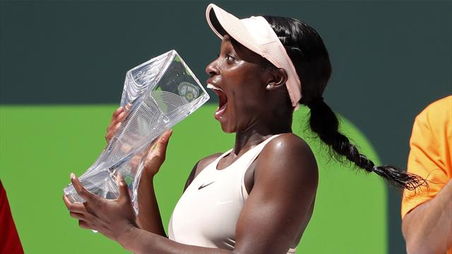 Speedy, steady Stephens wins Miami Open