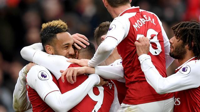 Aubameyang et Lacazette sauvent Arsenal