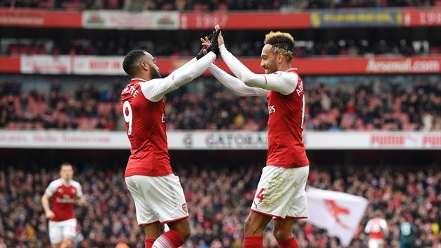«Арсенал» разгромил «Сток Сити», Обамеянг сделал дубль