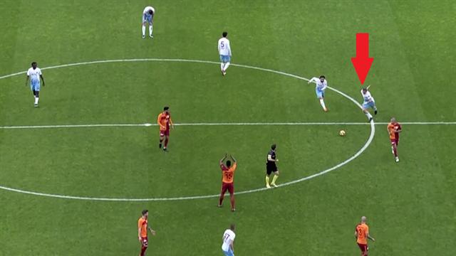 L'incroyable but de Kucka pour Trabzonspor : un coup franc vite joué du milieu de terrain