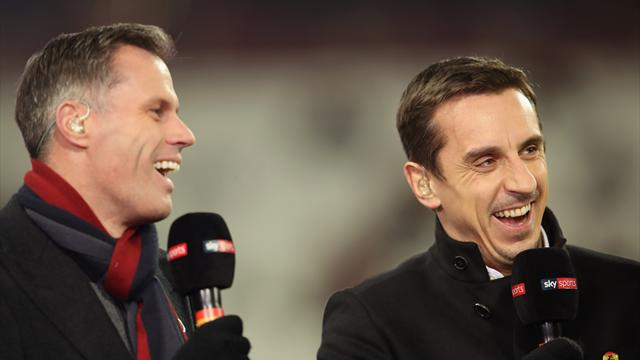 Carragher mocks Neville for including Pogba in combined Liverpool-United XI