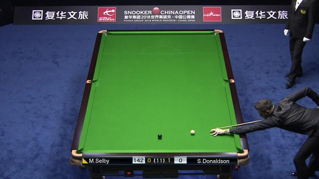Selby racks up break of 141 to draw level with Donaldson