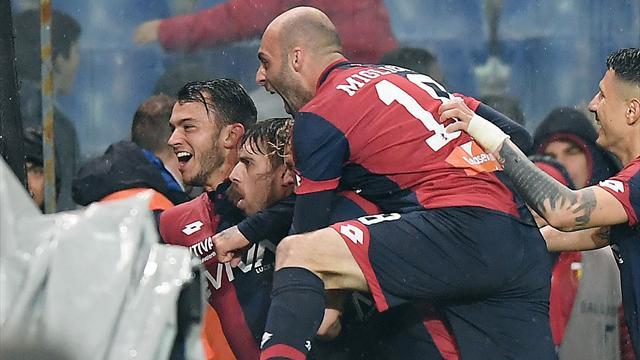 Il Genoa vince all'ultimo respiro contro il Cagliari: Medeiros firma il 2-1 del Grifone