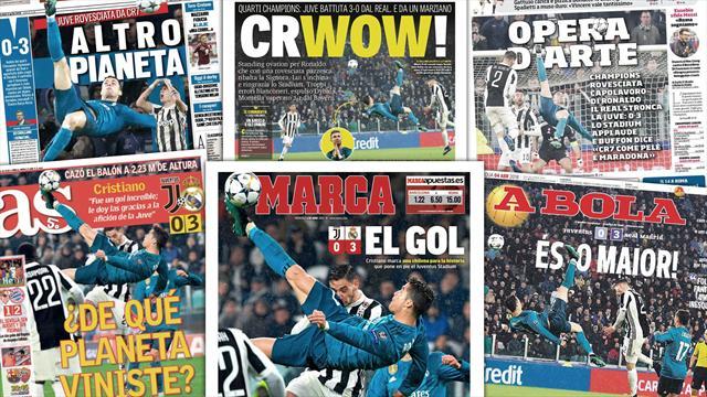«Patrimoine mondial», «œuvre d'art», «but de martien» : tout le monde se lève pour Cristiano Ronaldo