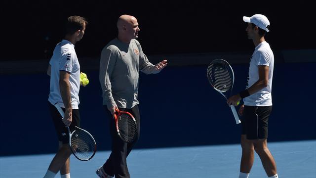 Agassi et Stepanek à la porte, Djokovic fait table rase