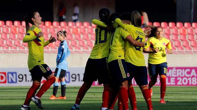 Colombia goleó a Uruguay, Chile y Paraguay no se superaron