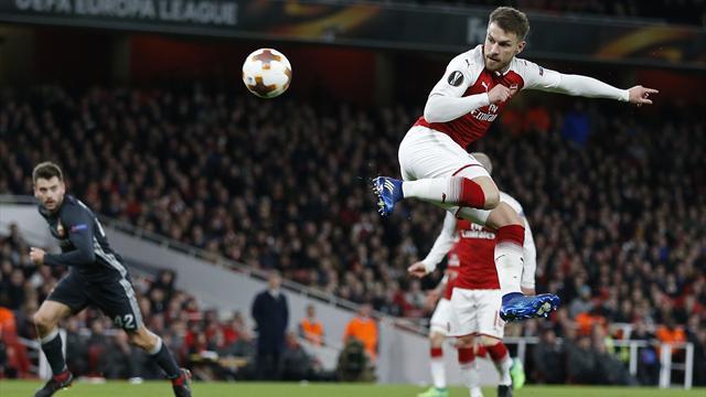 D'une aile de pigeon, Ramsey signe le but de la soirée : son action en vidéo