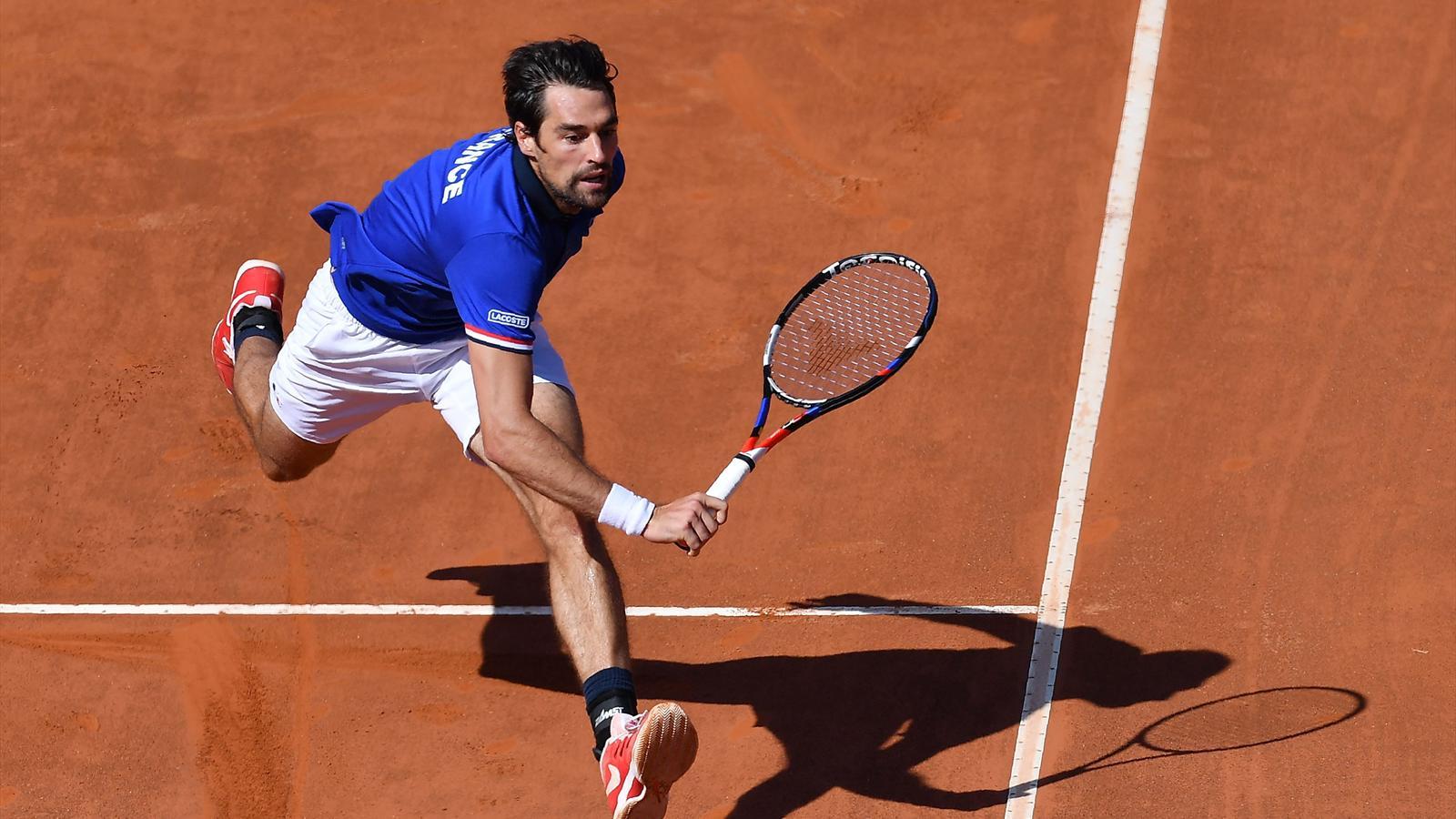 e649e1f7d8 L'Italie égalise face à la France après la défaite de Jérémy Chardy contre  Fabio Fognini - Coupe Davis 2018 - Tennis - Eurosport
