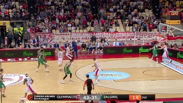 Highlights: Olympiacos Pireo 85-86 Zalgiris Kaunas