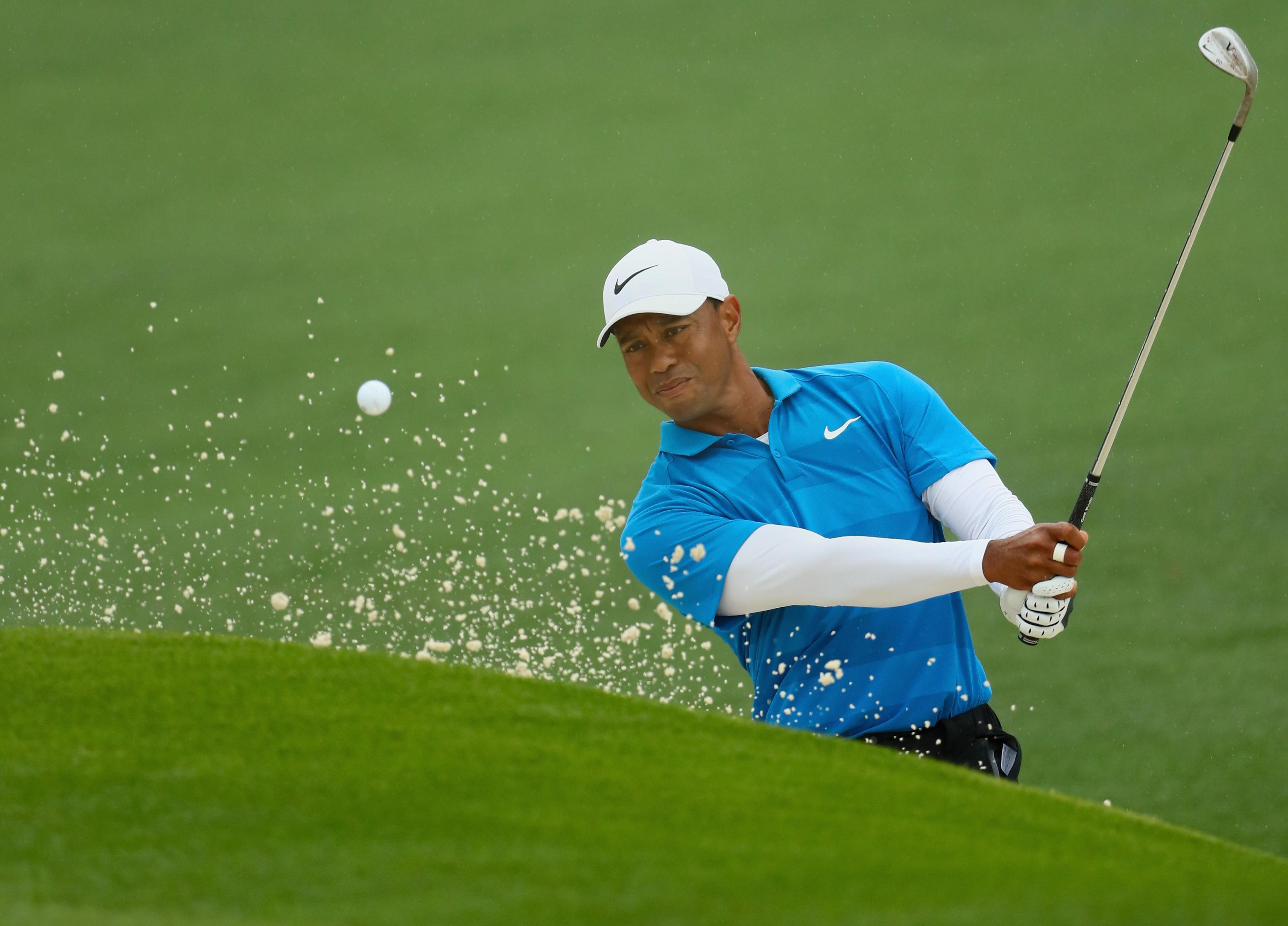 Tiger Woods, lors du 3e tour du Masters 2018
