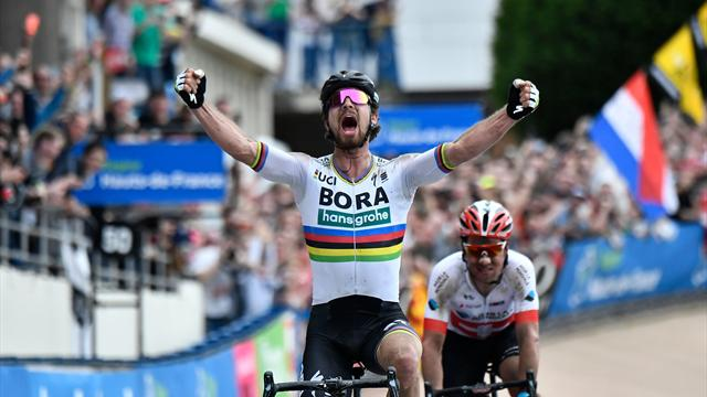 Majestic Sagan storms to victory in drama-filled Paris-Roubaix