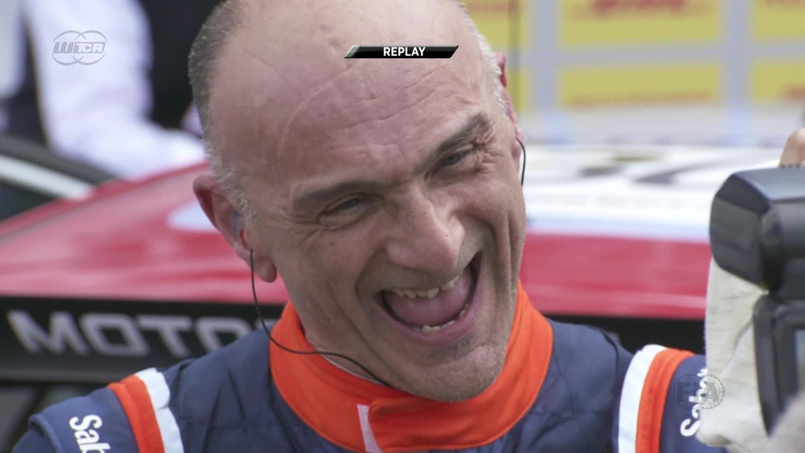 2e727f2ce5743 VIDEO - WTCR   Entrevista al veterano Tarquini tras su victoria - Video  Eurosport Espana