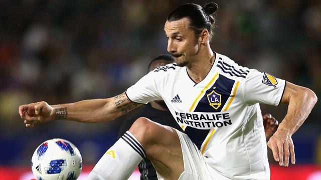 Zlatan inbytt men mållös när Galaxy föll