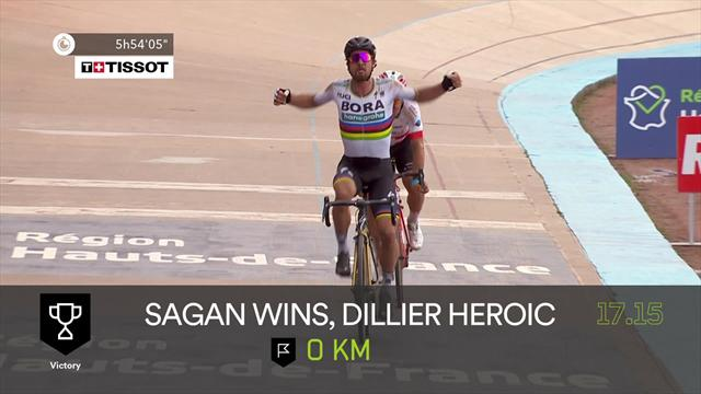 Schlüsselszenen Paris-Roubaix: Stürze, Attacken, Sagan!