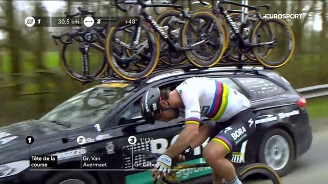 Darum schraubte Sagan an seinem Siegerrad