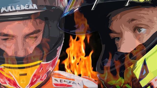 Marquez vs Rossi, le tappe di una delle rivalità più accese dello sport