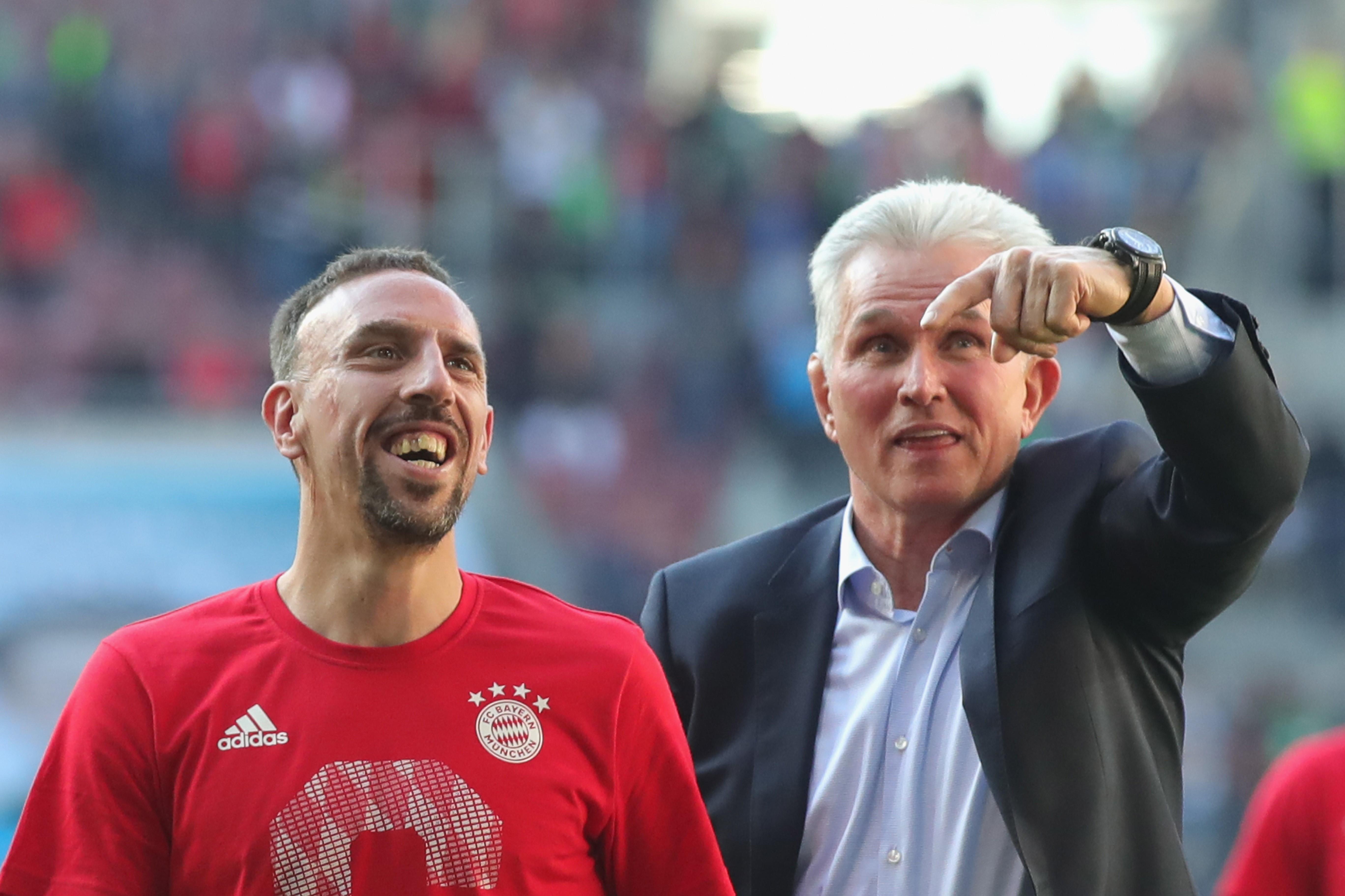 Franck Ribéry und Jupp Heynckes (FC Bayern München)
