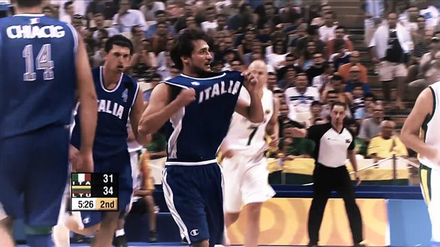 Gianmarco Pozzecco, le sue azioni più belle della semifinale olimpica tra Italia e Lituania