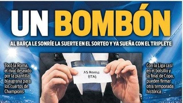 """""""Un Bombon""""! A Barcellona avevano esultato per il sorteggio con la Roma..."""