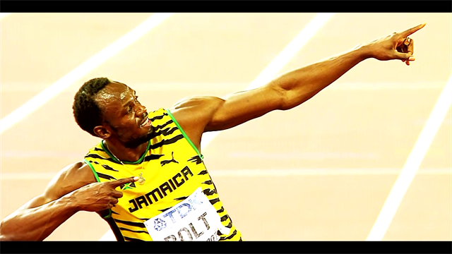 Usain Bolt's pose challenge: Winter Olympic stars rewarded with champagne