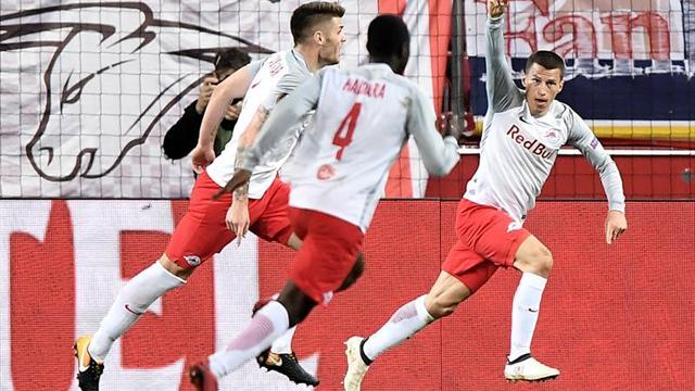 Acaba Salzburg con Lazio en 4 minutos