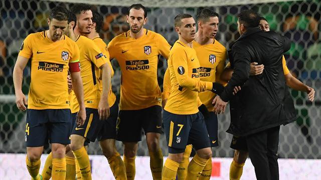 Sportings mål räckte inte - Atlético höll undan