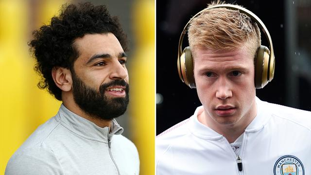 Salah and De Bruyne head six-man shortlist for PFA award