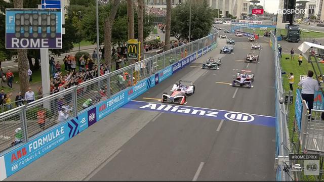 Fórmula E, Roma: Salida ajustada en un espectacular e-Prix