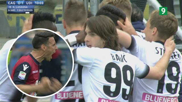 Highlights: Udinese startede festen, Cagliari sluttede den!