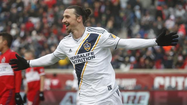 Premier but pour Zlatan Ibrahimovic avec le Galaxy — MLS