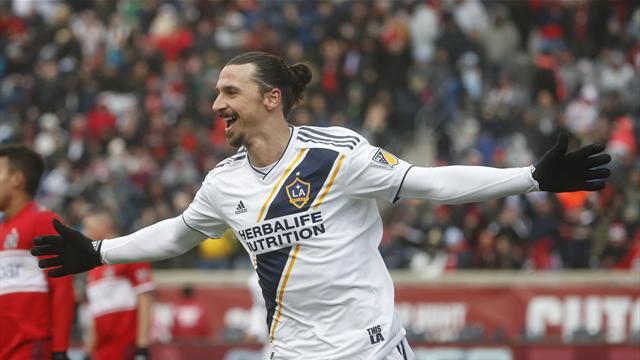 Ibrahimovic's header pushes Galaxy past Fire