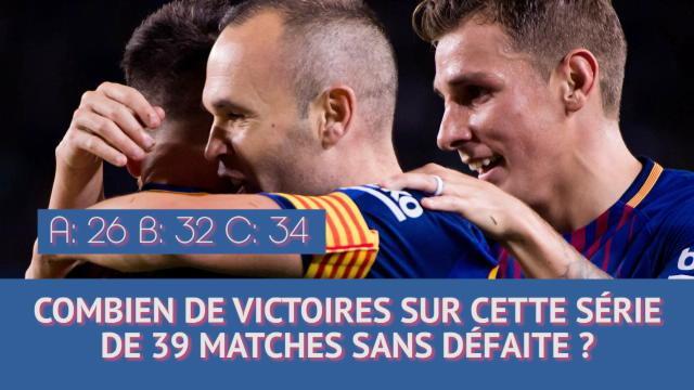 Que savez-vous de la série de matches sans défaite du Barça ?