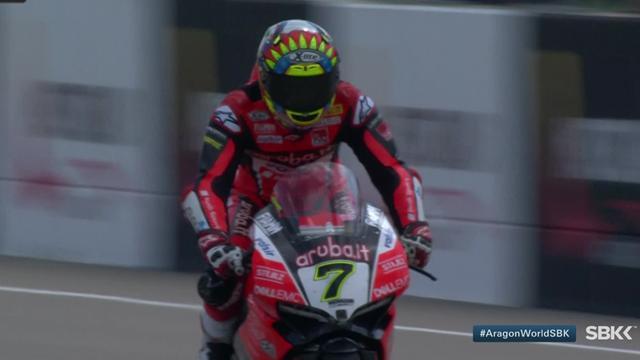 Superbikes Aragón: Chaz Davis gana la segunda carrera con una remontada brutal a Rea