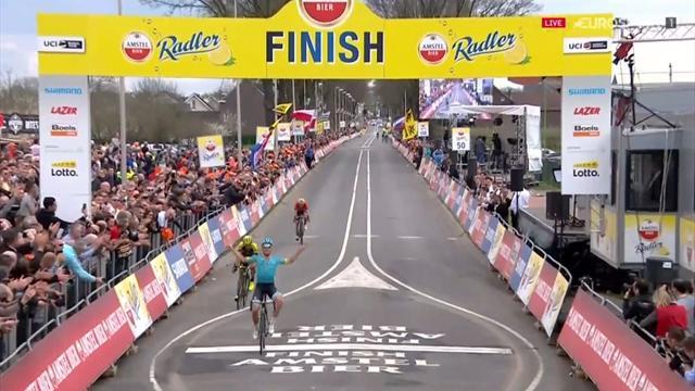 Amstel Gold Race 2018: Valgren Andersen se aprovecha del marcaje entre Sagan y Valverde