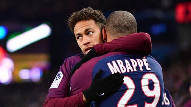 """Neymar """"très heureux"""" pour Mbappé et Rakitic"""