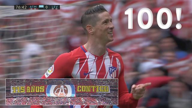 Highlights: Fernando Torres scorer mål nr. 100 i klubbens 115-års fest!